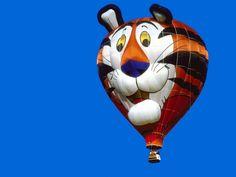"""Kellogg's """"Tony the Tiger"""" hot air balloon - photo from Hot Air Ballooning Wallpaper"""