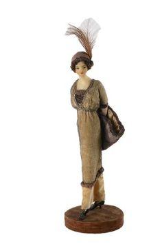 Lafitte Désirat. Tête buste en cire, corps en tissu. ca 1910