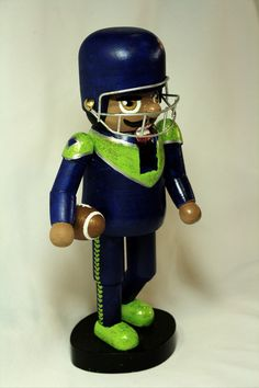 https://flic.kr/p/NqaT5g | 2016 Nutcracker | Part of my 2016 hand painted nutcracker collection inspired by the Seattrle Seahawks.