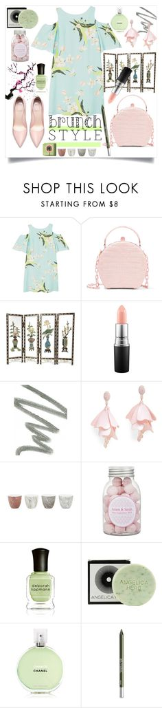 """Mother's Day Brunch Goals"" by karinravasio ❤ liked on Polyvore featuring MANGO, Nancy Gonzalez, Scully, MAC Cosmetics, NARS Cosmetics, Oscar de la Renta Pink Label, Jayson Home, Deborah Lippmann, Chanel and Urban Decay"