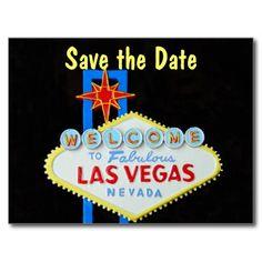 Las Vegas Wedding Save the Date Postcard