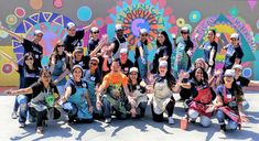 Circle Painting Home Circle Painting, Collaborative Art Projects, School Murals, Team Building Events, Art Courses, Paint Party, Community Art, Cool Artwork, Art Education