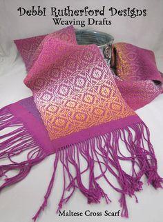 Maltese Cross Overshot Scarf - weaving draft $5.00
