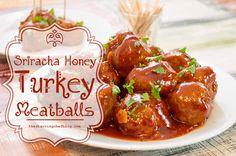 The Starving Chef | Sriracha honey meatballs - seriously amazing.
