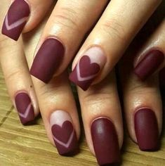 We have chosen Valentine`s day nails and are ready to share the ideas with you. New heart nail designs, cute red and pink nails - February, we love you! Gorgeous Nails, Love Nails, Fun Nails, Perfect Nails, Trendy Nail Art, Cool Nail Art, Nagel Stamping, Romantic Nails, Best Nail Art Designs