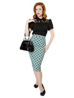 Polly Polka Flock Skirt Vintage Skirt 968599eac