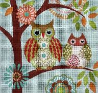 Scrappy Squares Needlepoint Quilt