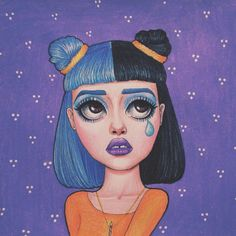Melanie Martinez portrait artwork art by Peter Curtis