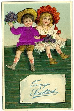 To My Sweetheart postcard