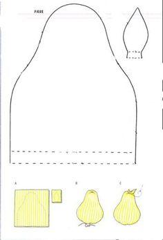 Moldes Para Artesanato em Tecido: Molde de Frutas Tecido maçã A 4/5