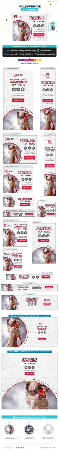Multipurpose Banners — Photoshop PSD #business #web banner • Available here → https://graphicriver.net/item/multipurpose-banners/19902865?ref=pxcr