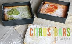 Citrus bars (3 kinds: lemon, lime, and grapefruit)