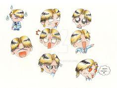 Masumi Hayami's faces #1 (Glass no Kamen) by StriderCT