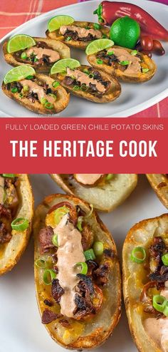 Fully Loaded Green Chile Potato Skins From The Heritage Cook | www.thehungrytravelerblog.com
