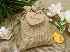 Burlap Favor Bags Wedding Rustic Favor Bag by AllThingsAngelas