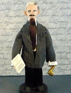 William Faulkner author doll (Literary Art by UneekDollDesigns)