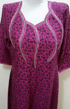 خياط وتفصيل – Communauté – Google+ Chudidhar Neck Designs, Salwar Neck Designs, Kurta Neck Design, Neckline Designs, Dress Neck Designs, Kurta Designs, Blouse Designs, African Maxi Dresses, African Attire
