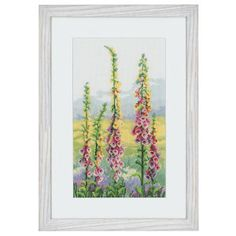 Foxgloves at Dawn - Cross Stitch, Needlepoint, Embroidery Kits – Tools and Supplies