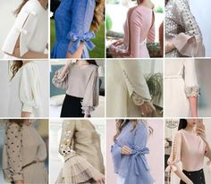 EVERYDAY SEW: ΣΧΕΔΙΑ ΜΑΝΙΚΙΩΝ Sleeves Designs For Dresses, Sleeve Designs, Kurti, Designer Dresses, Fashion Ideas, Sewing Patterns, Ruffle Blouse, Clothing, Shirts