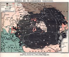 Greater Rumania Map - Romania Mare - D. Mitrany, Hodder and Stoughton, London, 1917 Turkic Languages, Semitic Languages, History Of Romania, Blue Green Eyes, Indian Language, Alternate History, History Facts, Rugs On Carpet, Maps