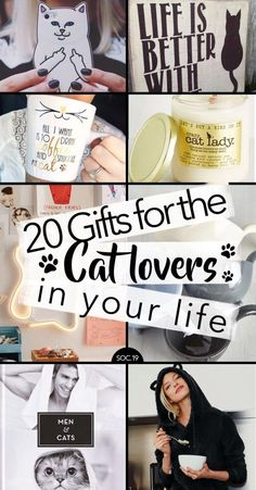20 Gifts for the Cat Lovers in Your Life - cat gift ideas.