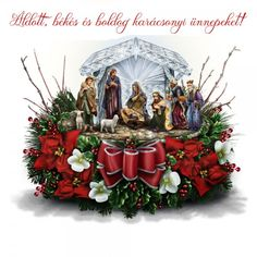 Crystal Nativity Floral Piece - The Nativity Tree Tabletop Centerpiece Presented And Narrated By Thomas Kinkade Hammacher Schlemmer All Things Christmas, Christmas Lights, Christmas Time, Christmas Crafts, Merry Christmas, Christmas Ornaments, Christmas Ideas, Xmas, Crystal Centerpieces