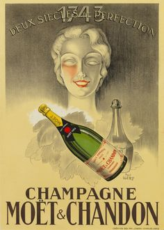 Paul Igert, (French, b. 1899), Champagne Moët & Chanon. I love this poster!