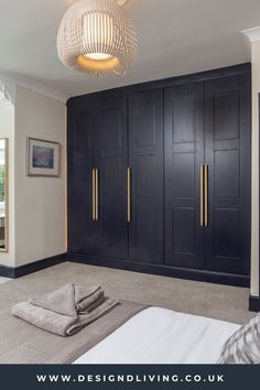 Blue Fitted Wardrobes, Bespoke Wardrobes, Contemporary Fitted Wardrobes, Wardrobes Uk, Master Bedroom Wardrobe Designs, Master Bedroom Closet, Home Room Design, Home Interior Design, Contemporary Interior Design