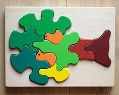 Wooden Puzzle Birds in a Tree. Wooden Toys. Wooden от GreenWoodLT