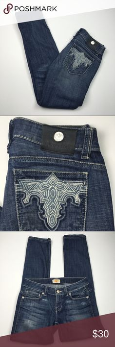 Antik Denim Skinny Embroidered Dark Jeans Size 27 Antik Denim Skinny Embroidered Dark Jeans Size 27. Excellent condition! Clean and comes from smoke free home. Questions welcomed Antik Denim Jeans Skinny
