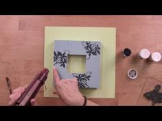 #Stampendous Jumbo Cling Stamping and Embossing on Wood