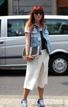 la veste en jean sans manche
