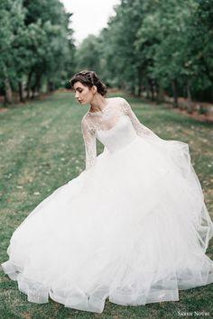 SAREH NOURI Fall 2015 #bridal collection long sleeve #wedding dress | #weddings #pretty #lace #weddingdress #weddinggown Photo: Orange Photographie http://www.weddinginspirasi.com/2014/12/04/sareh-nouri-fall-2015-wedding-dresses/