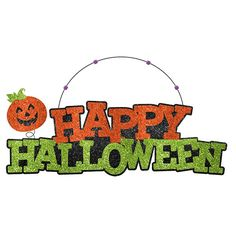 Give your holiday doorway a sparkly entrance with the Happy Halloween Glitter Sign. #glitter #sign #Halloween #decor