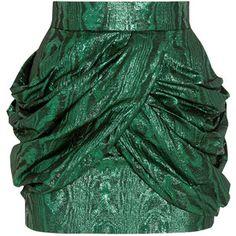 Balmain Metallic silk-blend jacquard mini skirt