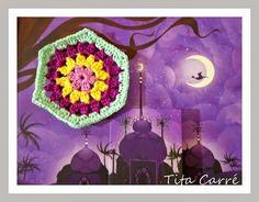 As 1001 noites e um Hexágono em crochet