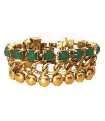 Pulsera Cristales Verdes Tendencia y moda primavera 2013. La tendencia tanto para el día como para la noche son especialmente pulseras con cristales o brillantes. http://alltrendy.es
