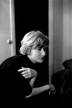 1959, Paris, Françoise Sagan, writer, by Frank Horvat