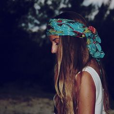 Scarves as headbands #obsessed.