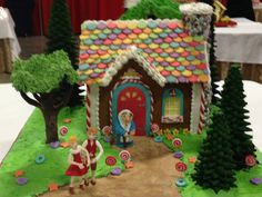 2013 Gingerbread House Competition looks like hansel, gretel, and the witch in this one