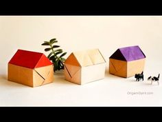 A Village of Origami Houses