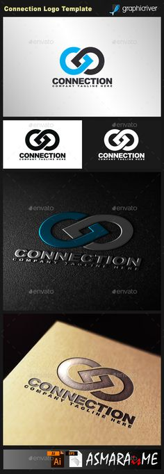 Connection Logo Template Vector EPS, AI #design #logotype Download: http://graphicriver.net/item/connection-logo/10639568?ref=ksioks