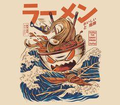 The Great Ramen off Kanagawa on Behance