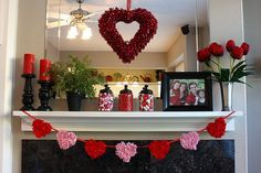 Tissue paper hearts Tay could even help with. Love the jars too.
