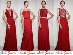 Vestidos de festa vermelho: os modelos atuais - Madrinhas de casamento