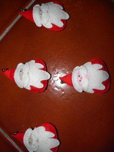 Pregadeiras em Feltro (Pai Natal)