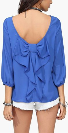 Bow back blouse //