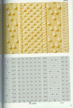 "Photo from album ""Узоры спицами on Yandex. Knitted Dishcloth Patterns Free, Dishcloth Knitting Patterns, Knitting Stiches, Knit Dishcloth, Knitting Books, Knitting Charts, Lace Knitting, Knit Patterns, Stitch Patterns"