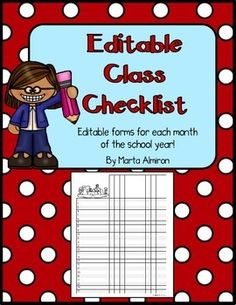 These handy class checklists will help you to keep track of any information you need each month (field trip money and paperwork collected, assessments, grades or scores, etc.) For any grade level.Just type your students names in the first month, and the names will transfer to all the other months (so you dont have to type their names over and over).