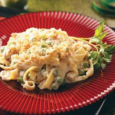 Creamy Tuna-Noodle Casserole Recipe photo by Taste of Home Ingredients 5 cups uncooked egg noodles 1 can ounces) r. Wrap Recipes, Fish Recipes, Seafood Recipes, Dinner Recipes, Cooking Recipes, Healthy Recipes, Dinner Ideas, Recipies, Pasta Recipes